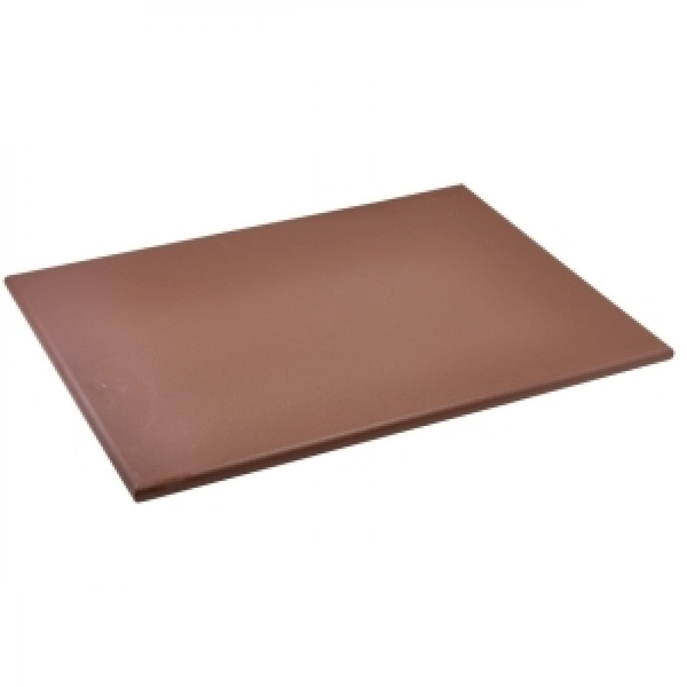 Genware Brown High Density Chopping Board 600x450x18mm