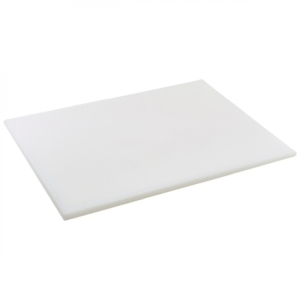 Genware White High Density Chopping Board 600x450x18mm