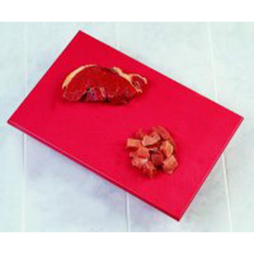 Genware Red High Density Chopping Board 600x450x18mm
