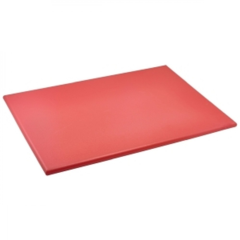 Genware Red High Density Chopping Board 600x450x18mm