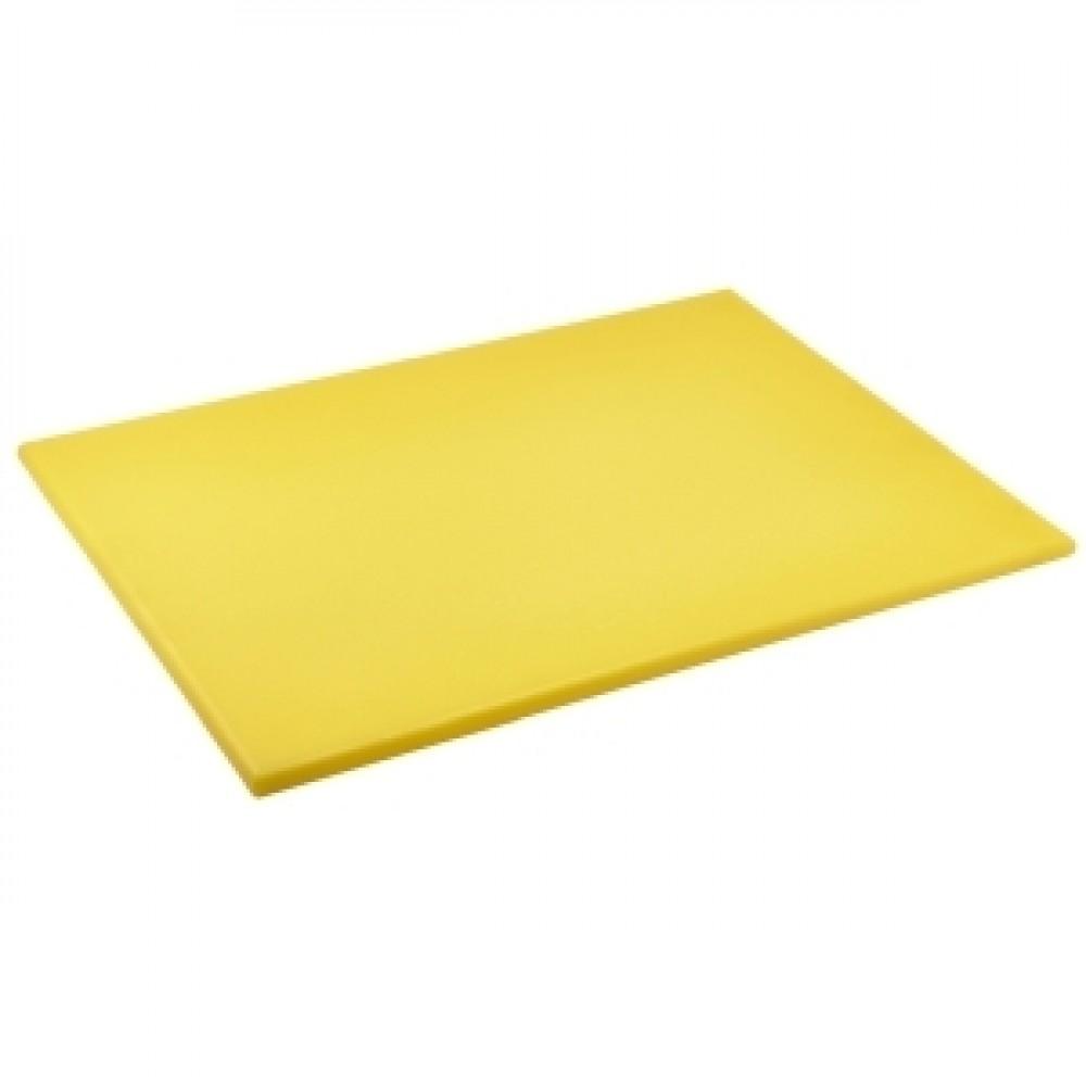 Genware Yellow High Density Chopping Board 600x450x18mm