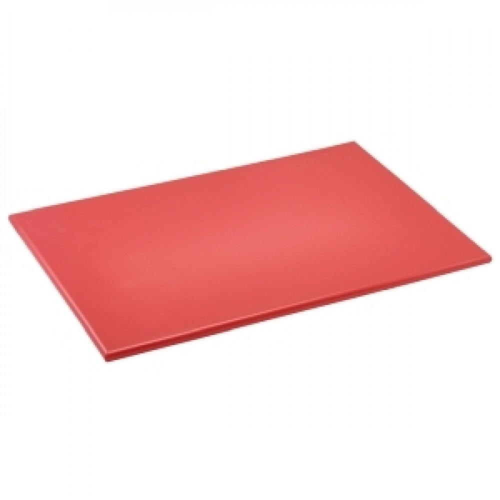 Genware Red High Density Chopping Board 450x300x12.5mm