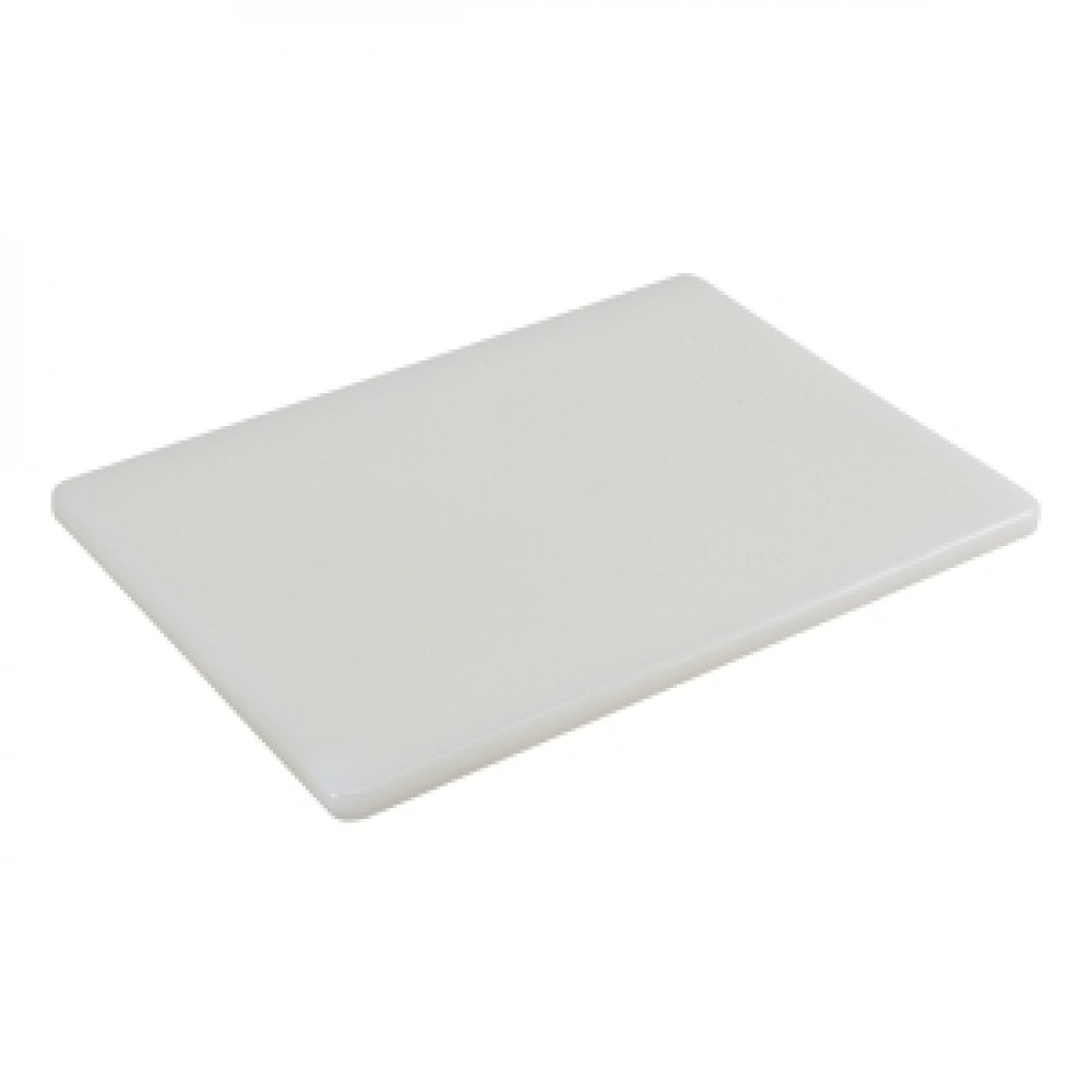 Genware White High Density Chopping Board 450x300x12.5mm