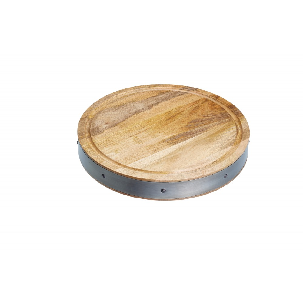 Kitchencraft Mango Wood Butchers Board 375mm Diameter