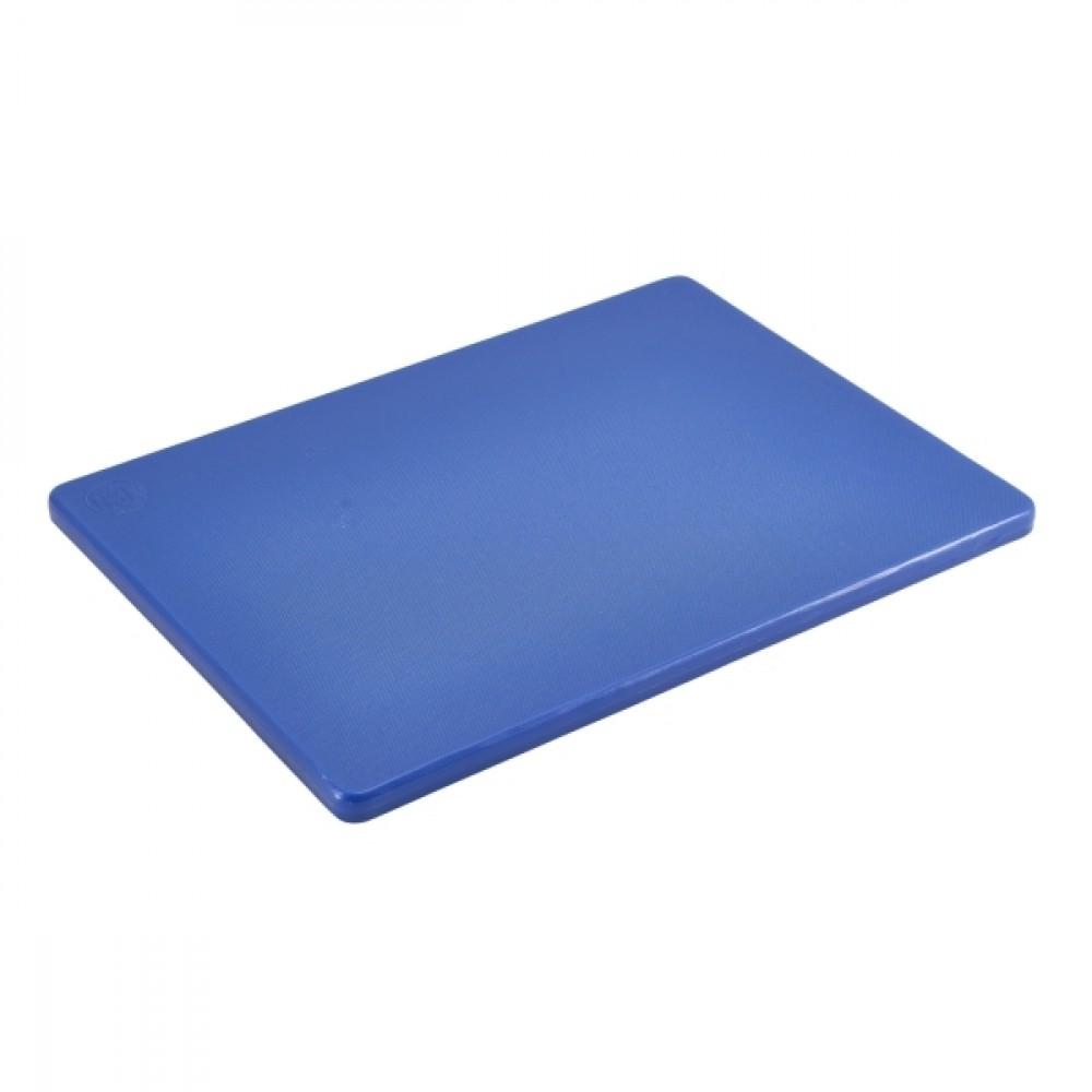 "Genware Low Density Chopping Board Blue 305x230x12.5mm-12x9x0.5"""