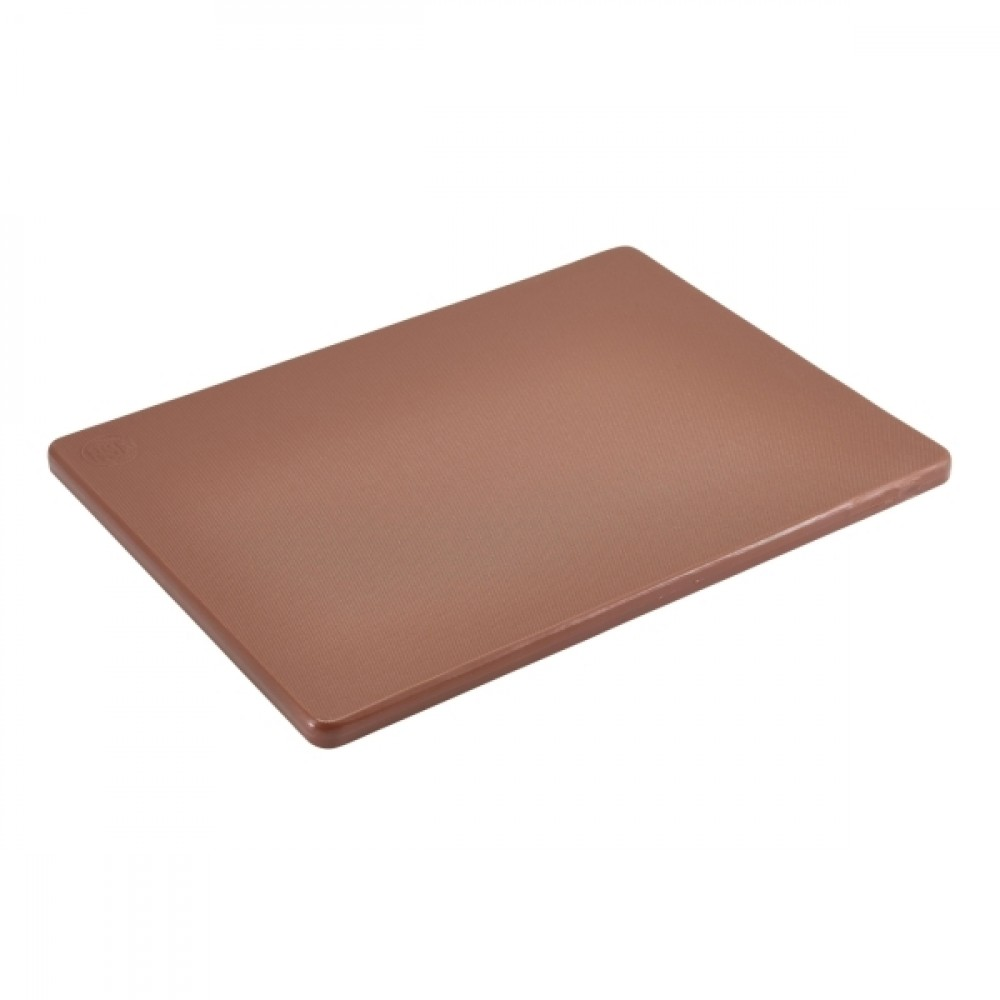 "Genware Low Density Chopping Board Brown 305x230x12.5mm-12x9x0.5"""