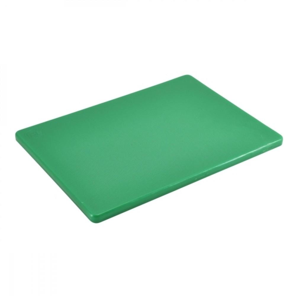 "Genware Low Density Chopping Board Green 305x230x12.5mm-12x9x0.5"""