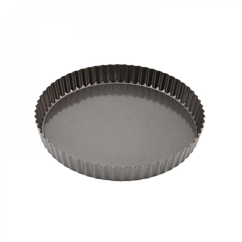 Genware Non Stick Fluted Quiche Tin Loose Base 25cm