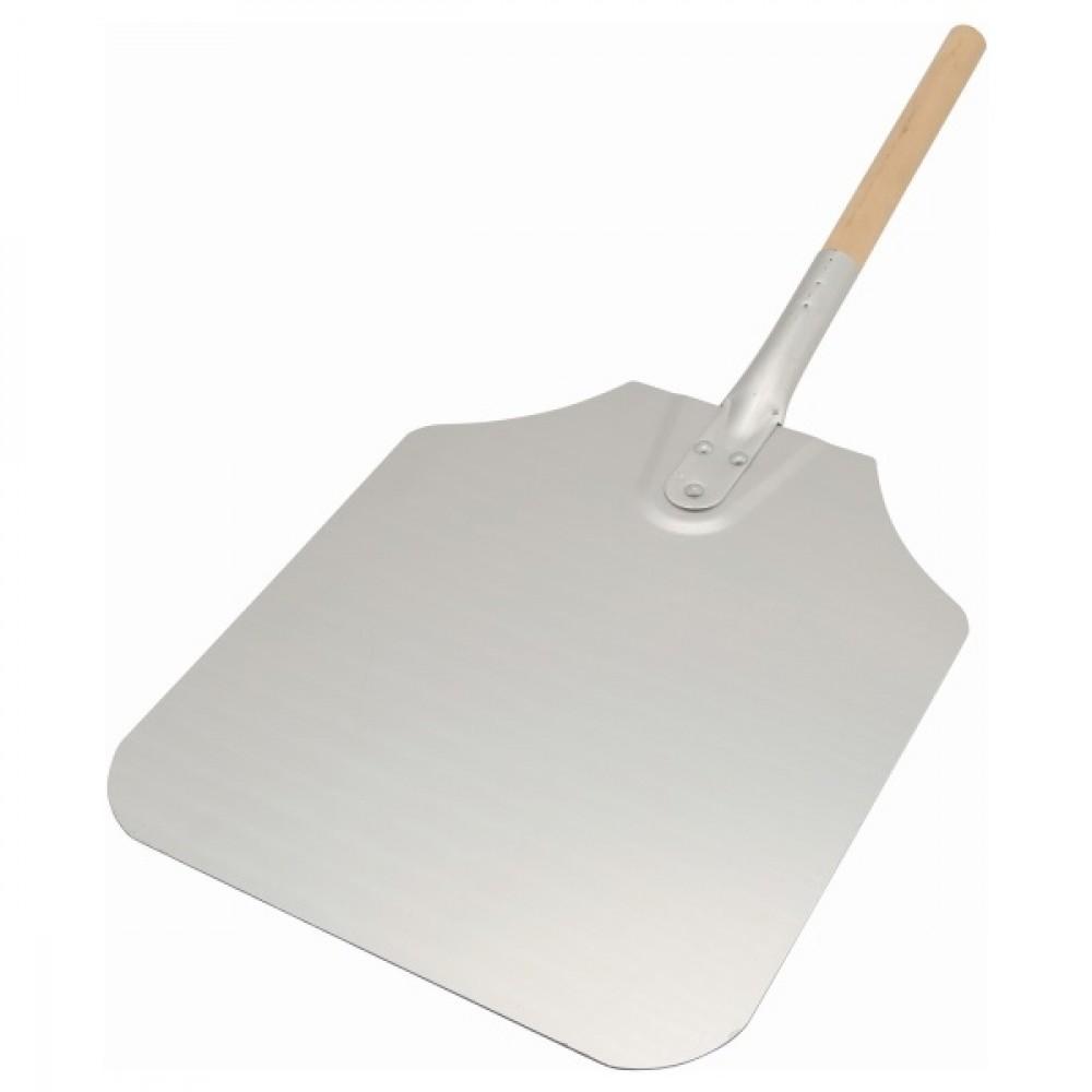 """Genware Pizza Peel Wood Handle 39"""" Blade 10x11"""""""