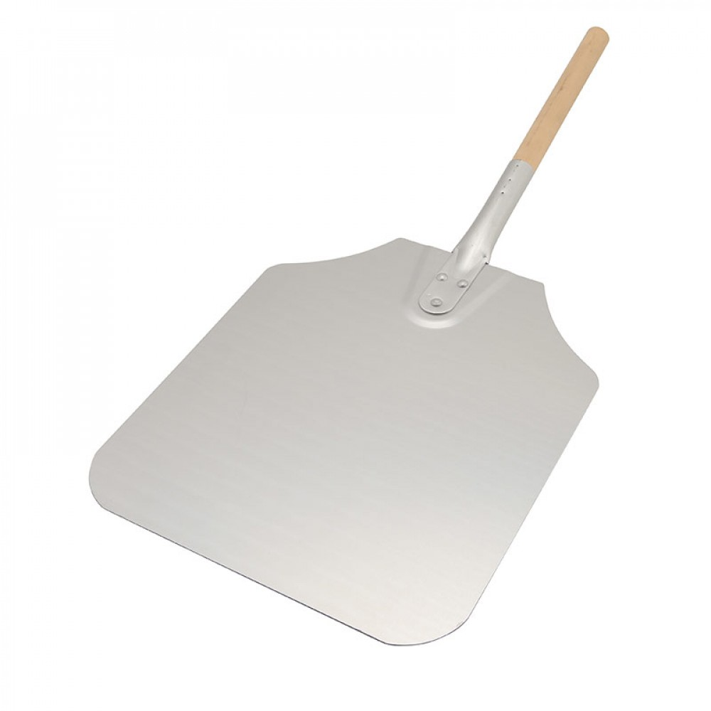 "Genware Pizza Peel Wood Handle 26"" Blade 12x14"""