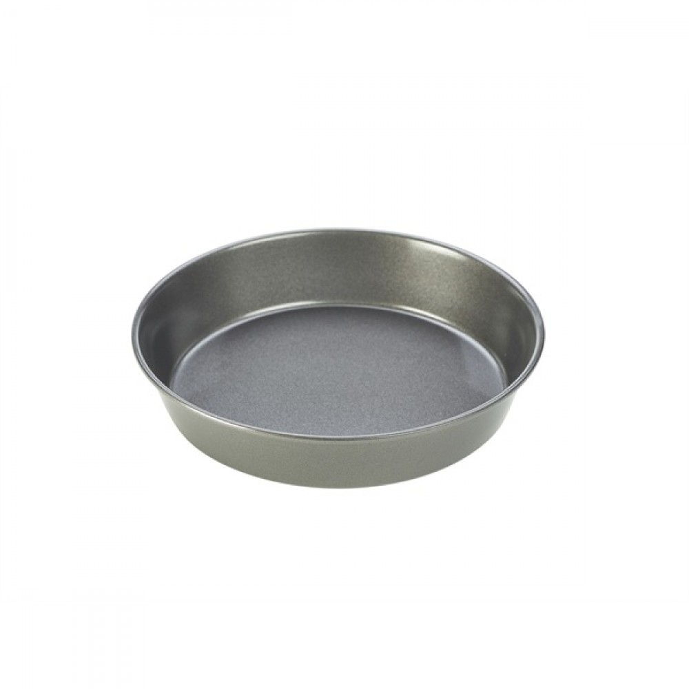 Genware Carbon Steel Non-Stick Round Shallow Cake Pan 23x5cm