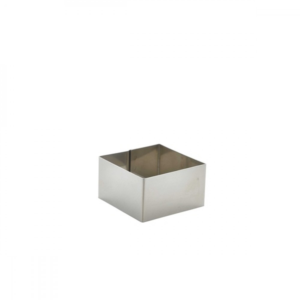 Berties Stainless Steel Square Mousse Ring 6x6x3.5cm