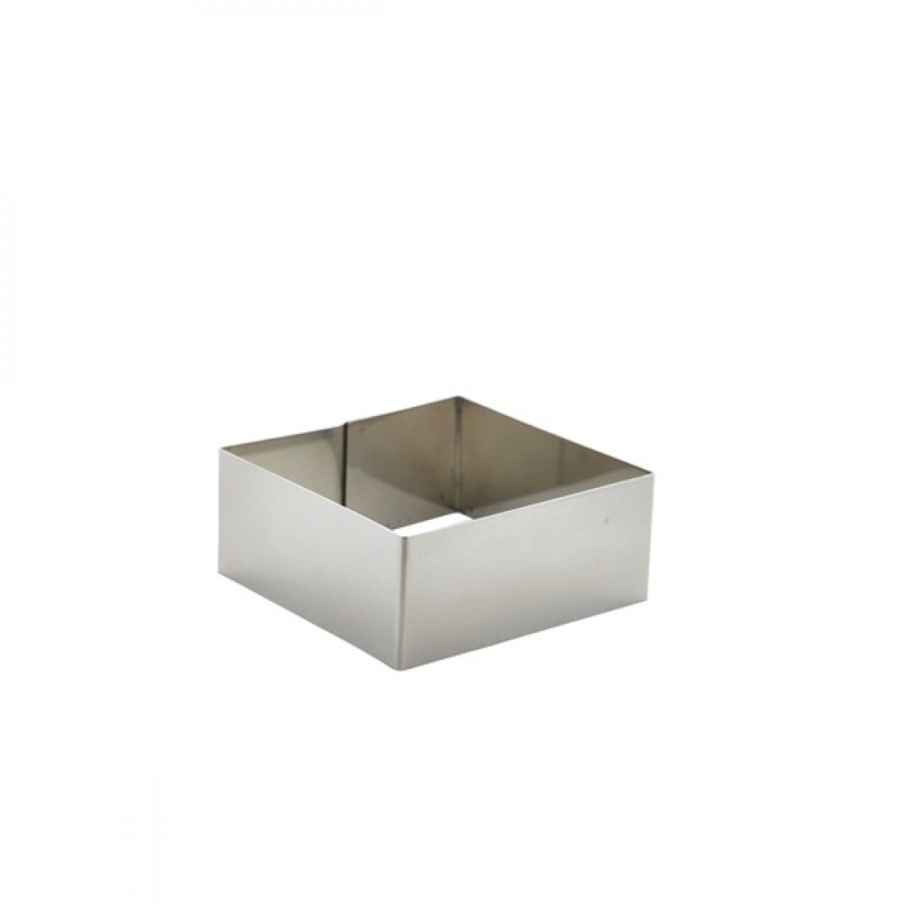 Berties Stainless Steel Square Mousse Ring 8x8x3.5cm
