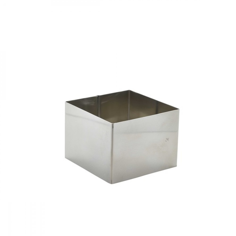 Berties Stainless Steel Square Mousse Ring 8x8x6cm