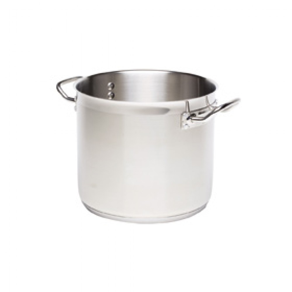 Genware Stainless Steel Stockpot 26cm 12 Litre
