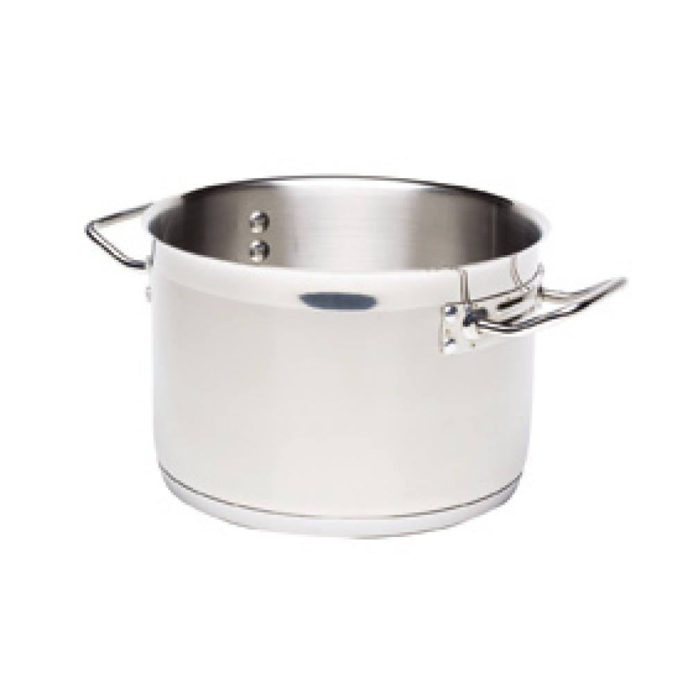 Genware Stainless Steel Stewpan24cm 7.2Litre