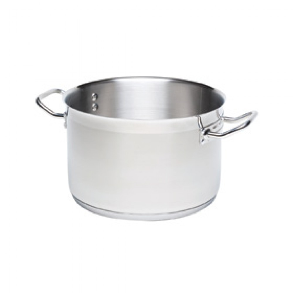 Genware Stainless Steel Large Casserole 36cm 22 Litre