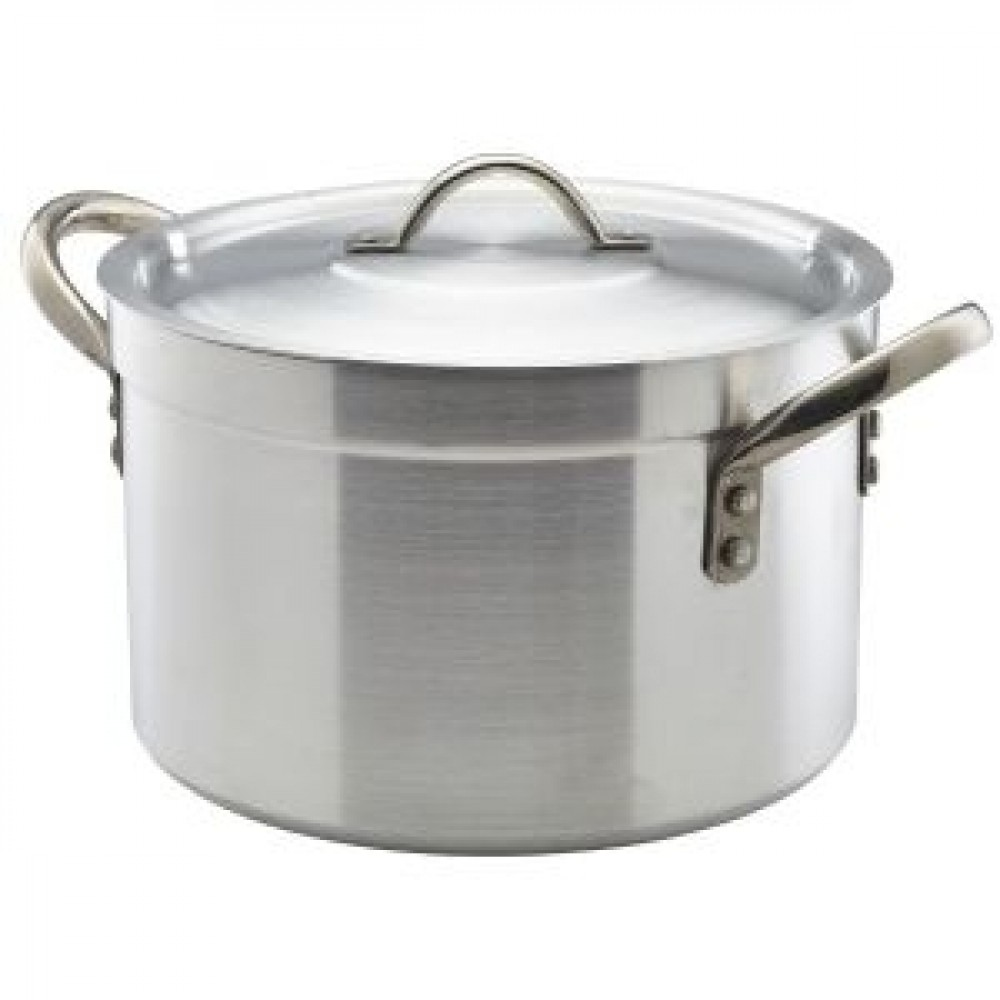 Genware Aluminium Heavy Duty Stewpan and Lid 32cm, 17L