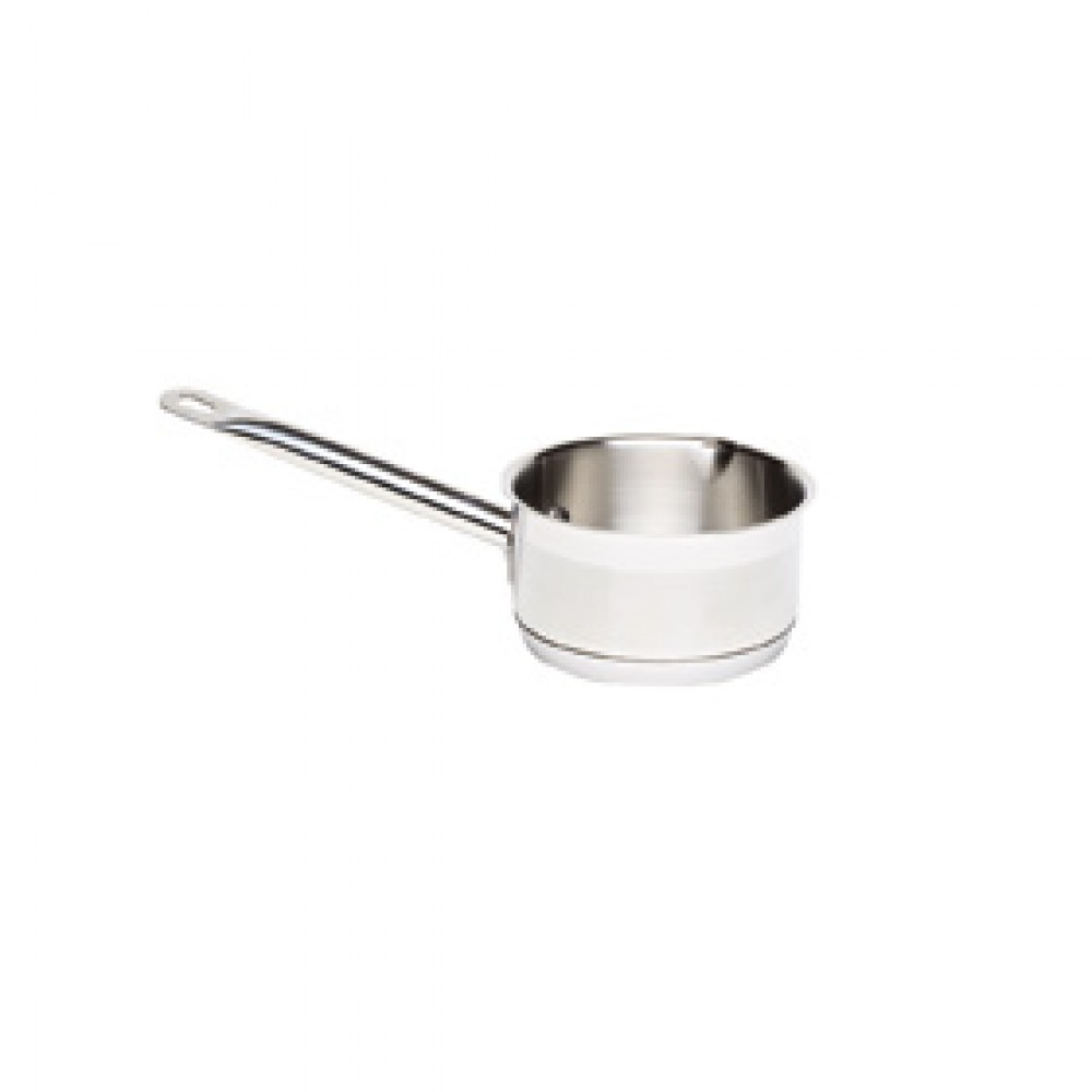 Genware Stainless Steel Milk Pan 14cm 1.1 Litre