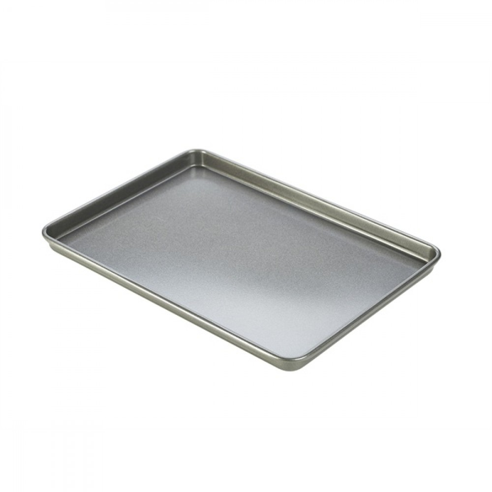 Genware Carbon Steel Non-Stick Bake Tray 35x25cm