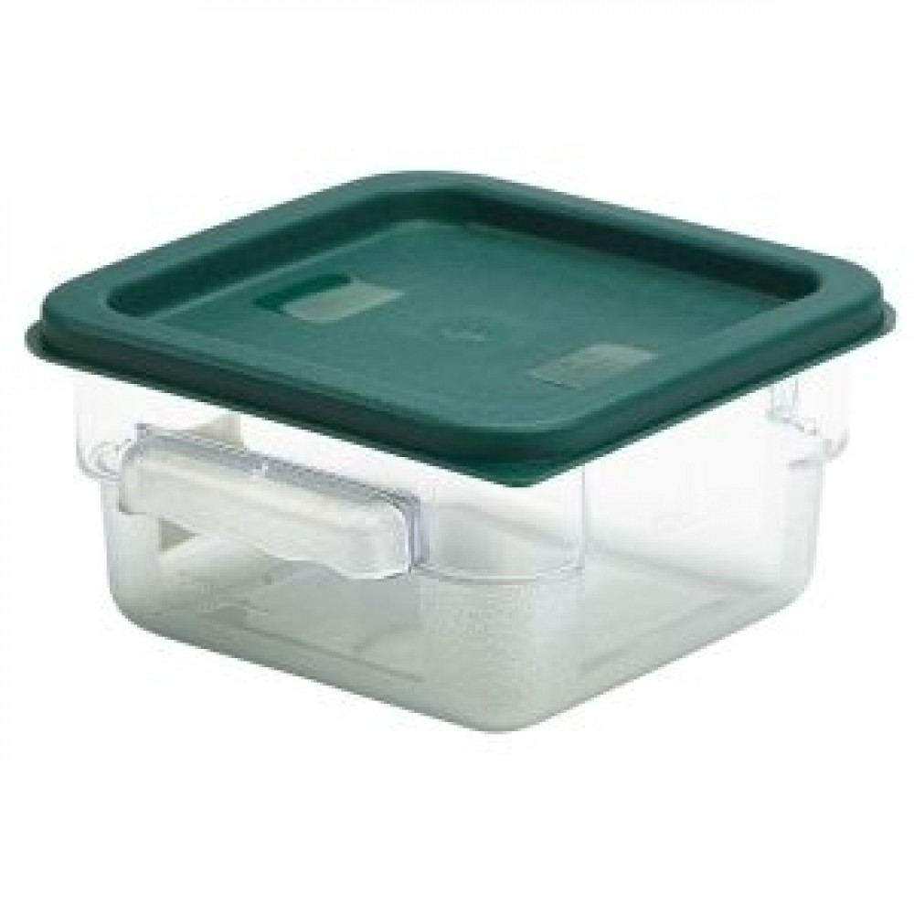 Genware Polyethylene Lid for Food Storage Container Green 1.9L & 3.8L
