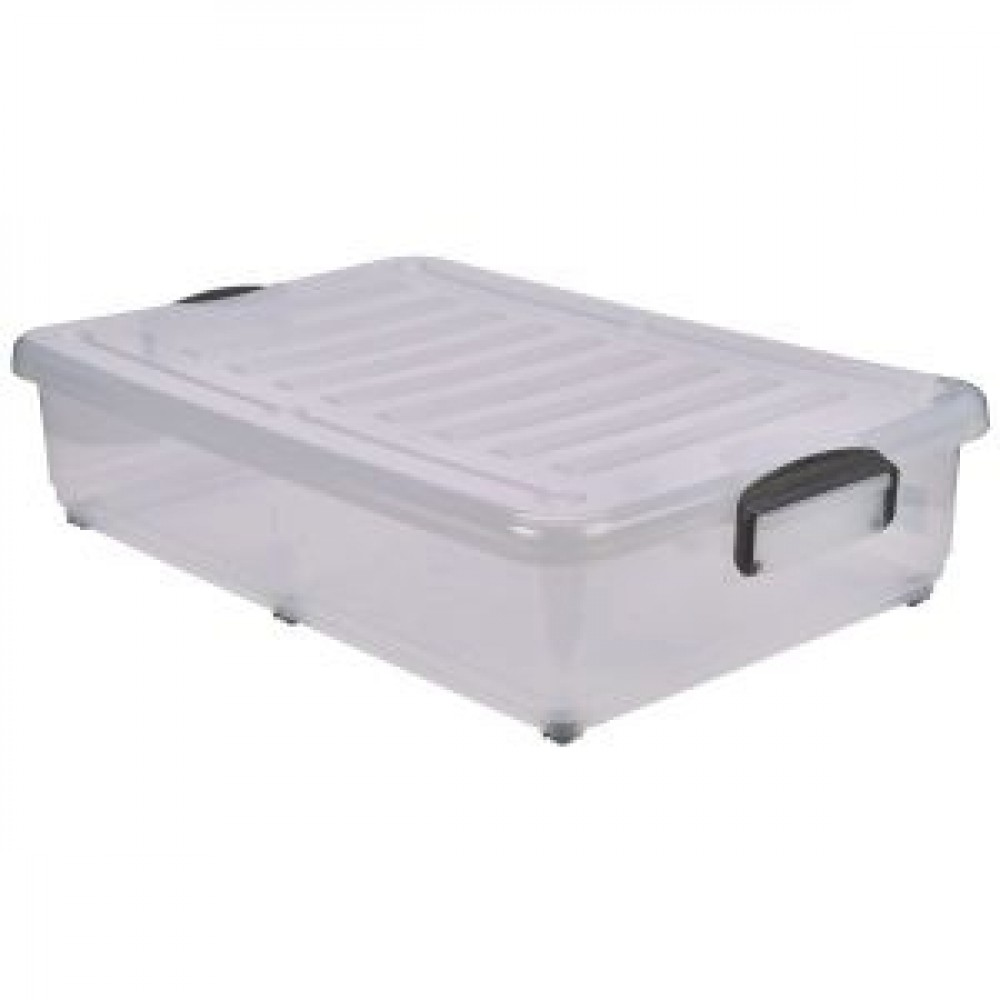 Berties Storage Box 40L With Clip Handles & Wheels