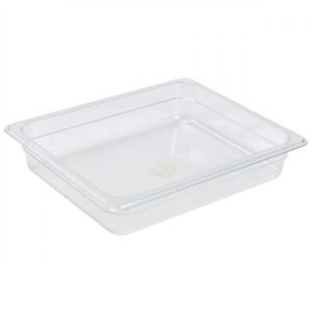 Genware Polycarbonate Gastronorm 1-2 65mm deep