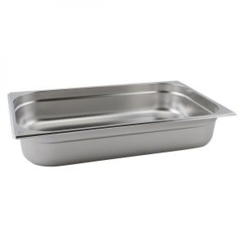 Genware Stainless Steel Gastronorm 1-1 40mm Deep