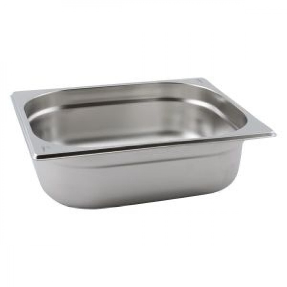 Genware Stainless Steel Gastronorm 1-2 200mm Deep