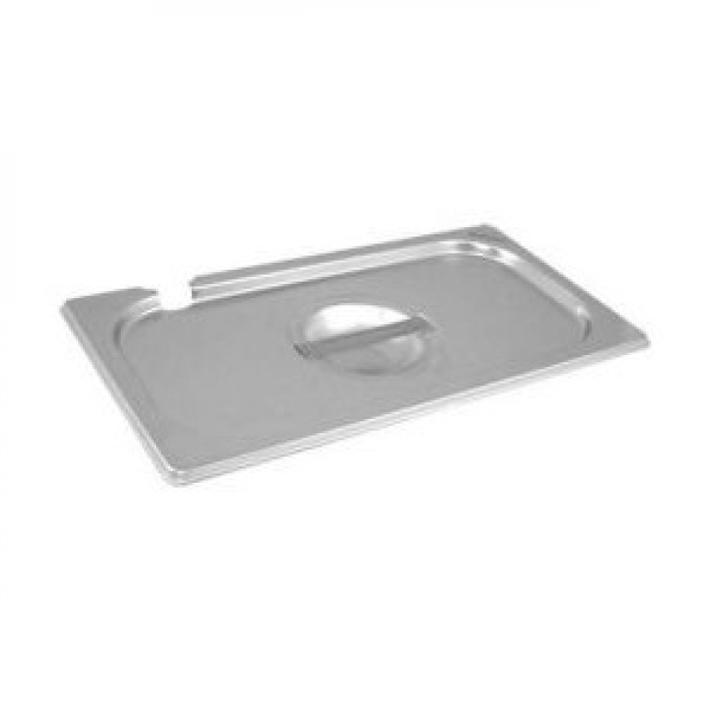 Genware Stainless Steel Gastronorm Notched Lid 1-6