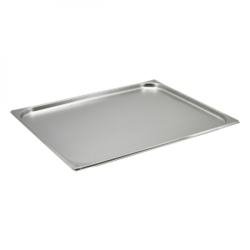 Genware Stainless Steel Gastronorm 2-1 20mm Deep