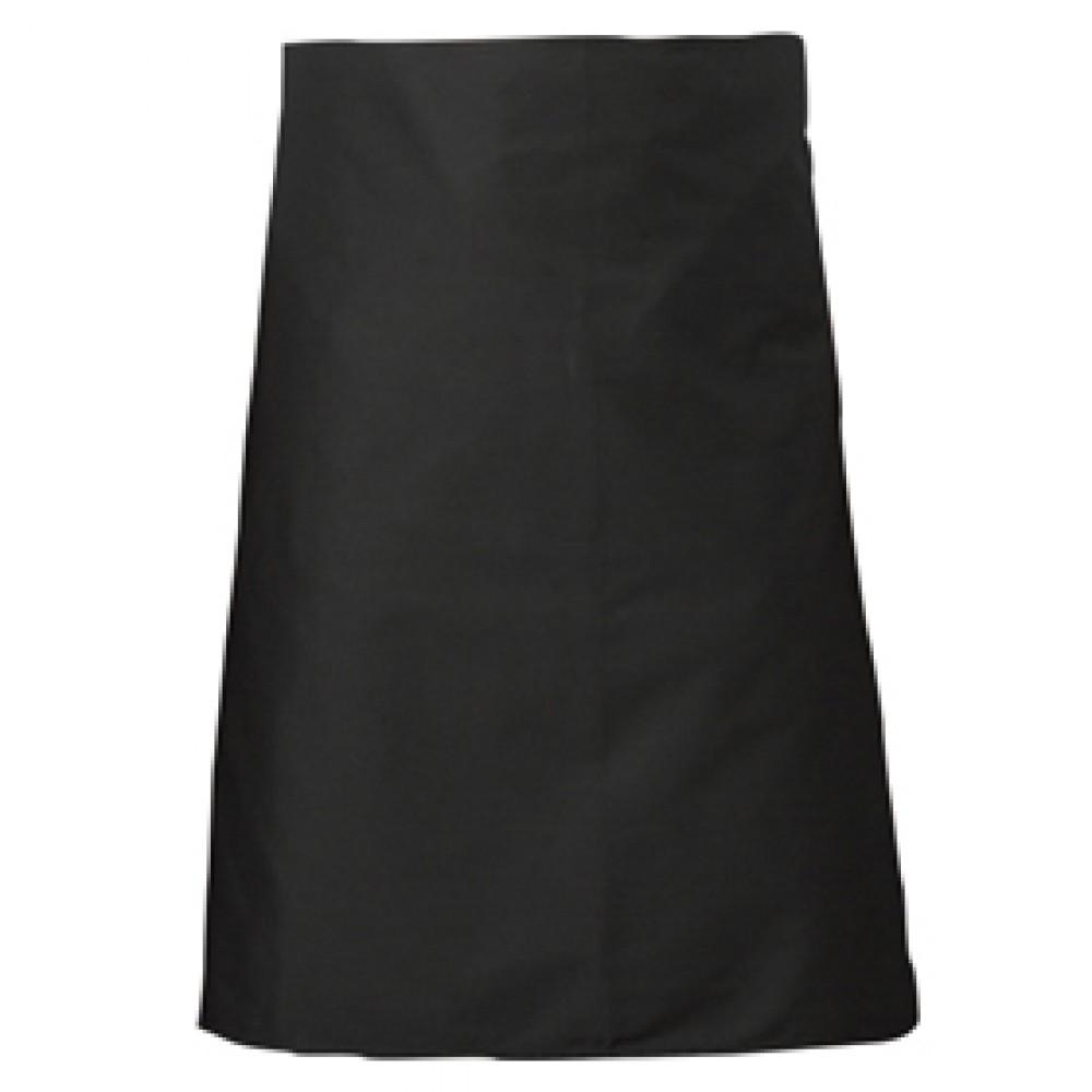 Genware Waist Apron Black 90cm x 70cm