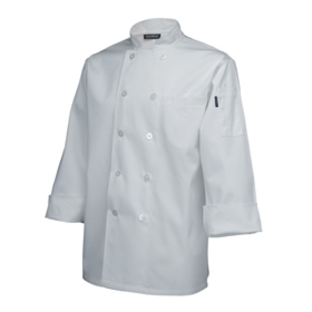 "Genware Standard Chef Jacket Long Sleeve White XXL 52""-54"""