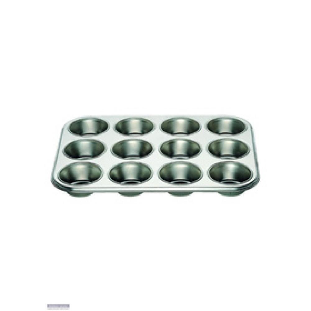 Genware Non Stick Muffin Tray 12 Cup
