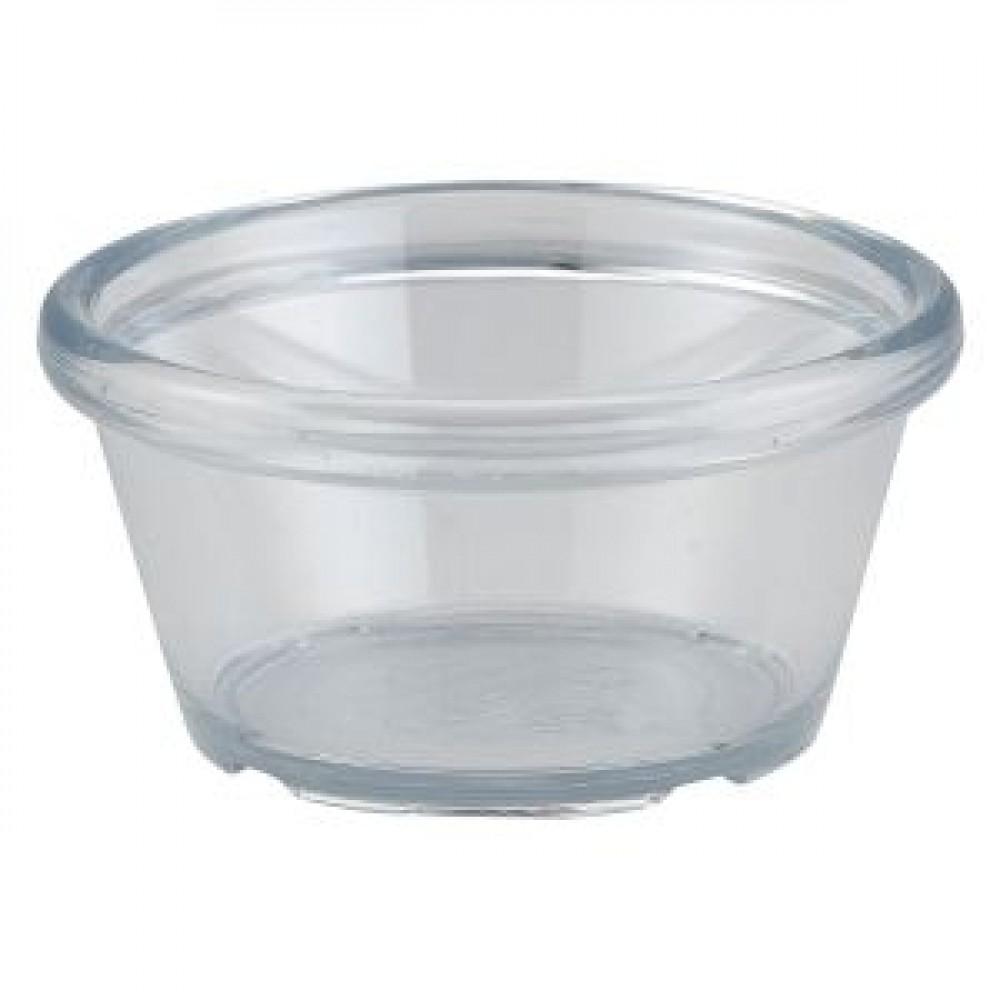 Genware Clear Plastic Smooth Ramekin 5.9cl-2oz