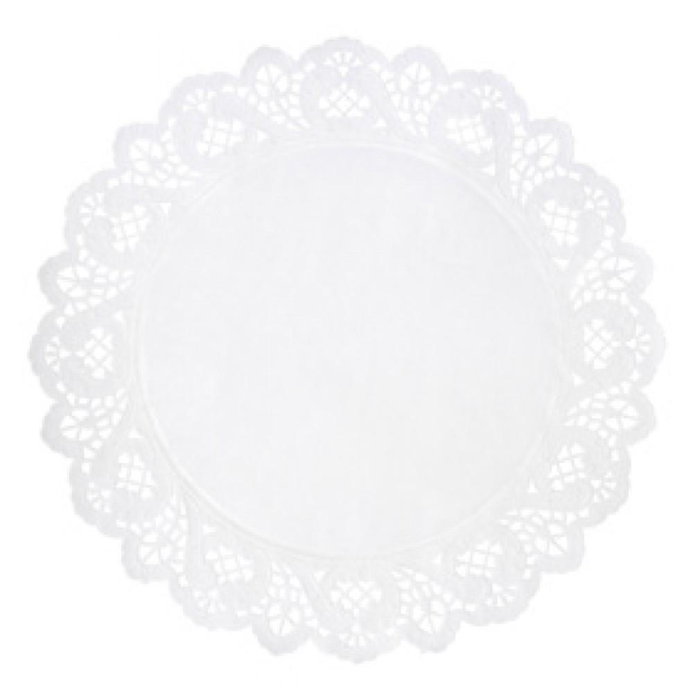Berties White Round Doyley 12cm