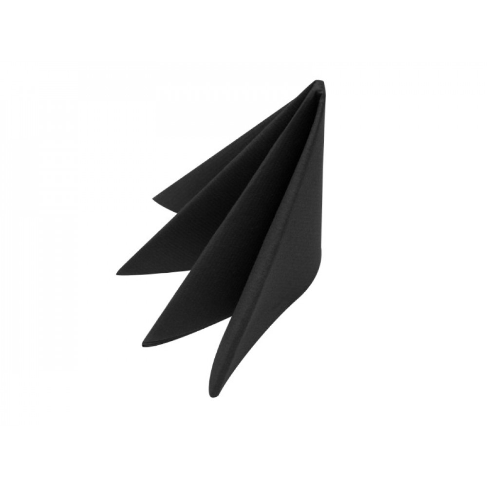 Swansoft Linen Style Black Dinner Napkin 40cm