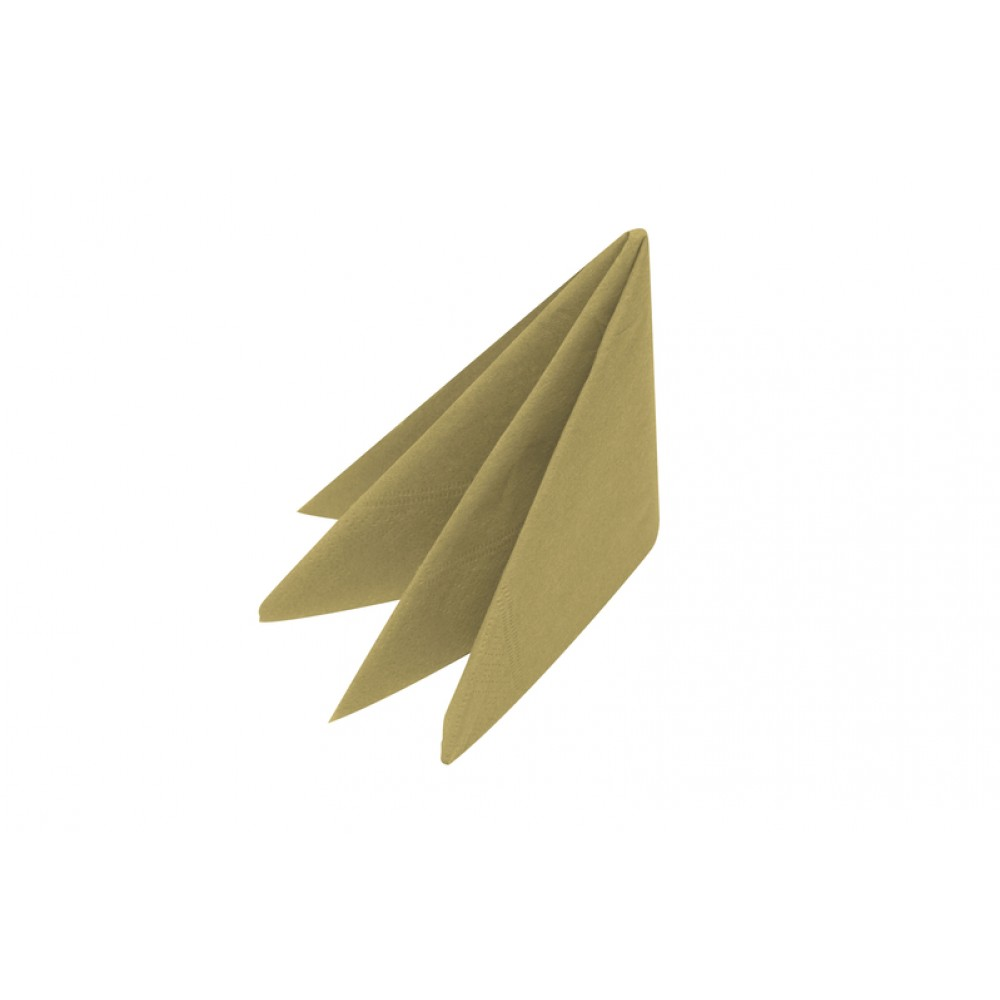Swansoft Linen Style Gold Dinner Napkin 40cm
