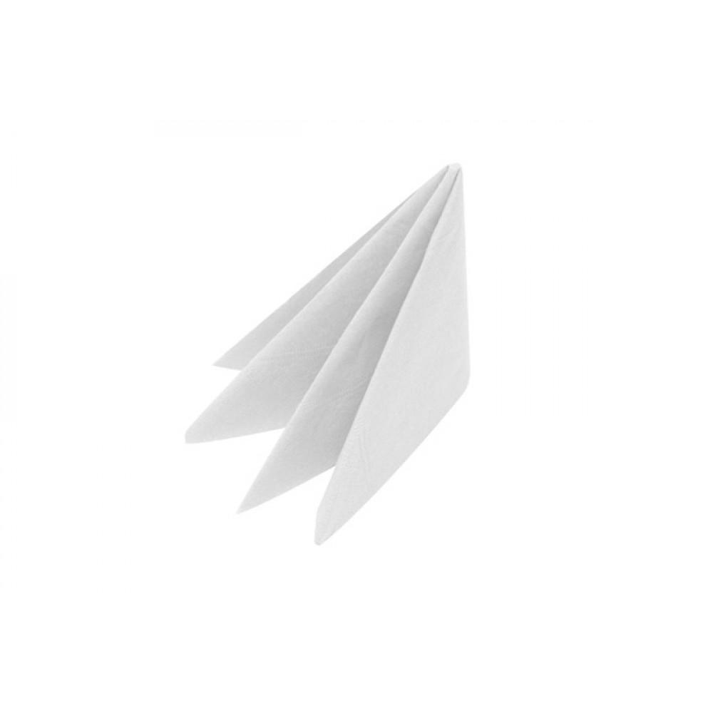 Swantex White Dinner Napkin 3 ply 8 fold 40cm
