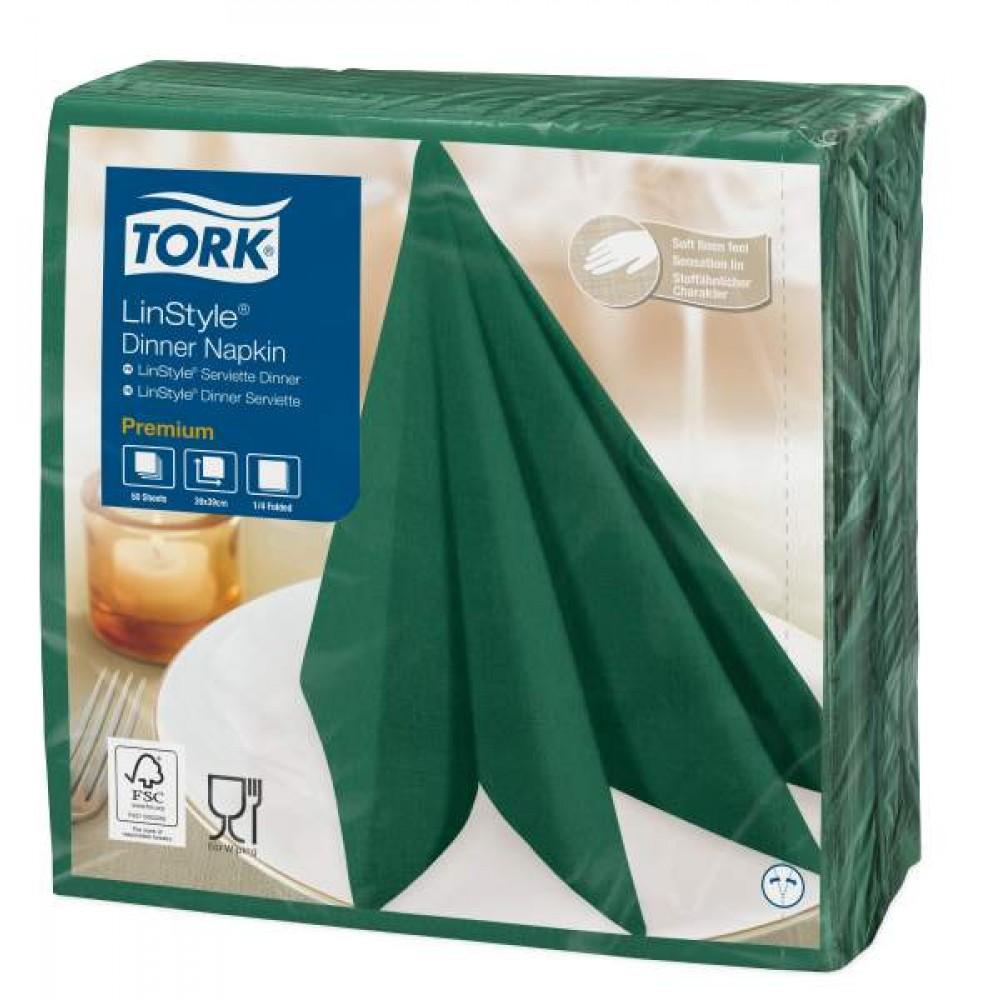 Tork Linstyle Green Dinner Napkin 39cm