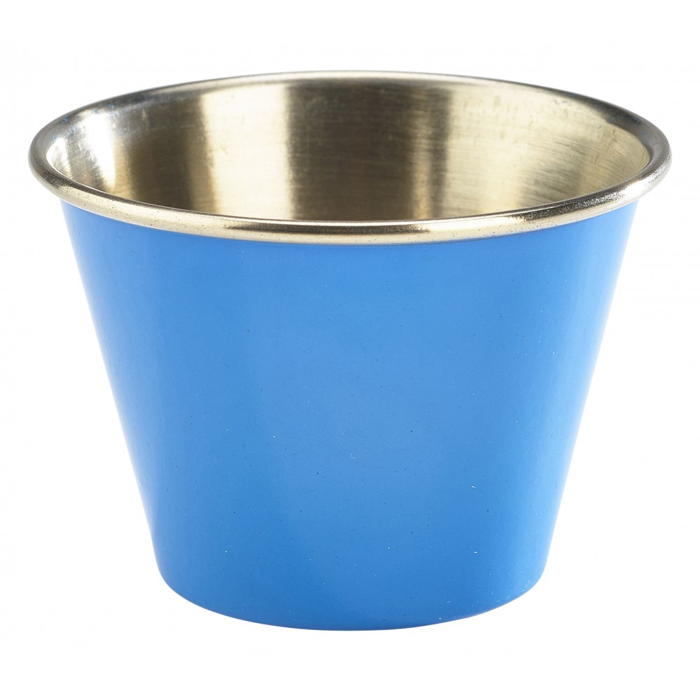 Genware Stainless Steel Ramekin Blue 7cl-2.5oz