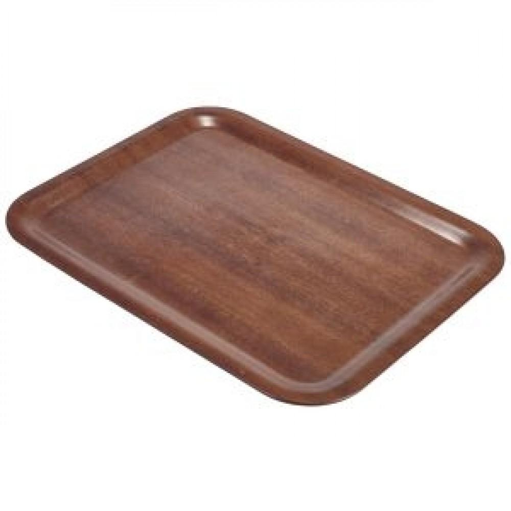 Genware Dark Wood Rectangular Tray 600x450mm
