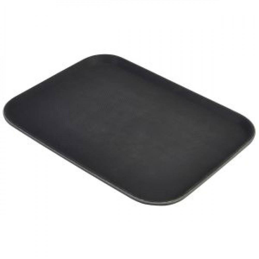 Genware Regular Rectangular Tread Tray Black 406x305mm