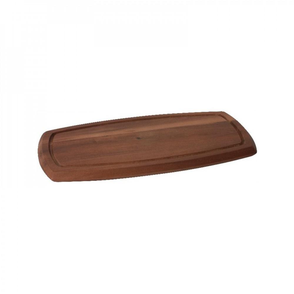 Genware Reversible Acacia Wood Serving Board 36x18x2cm