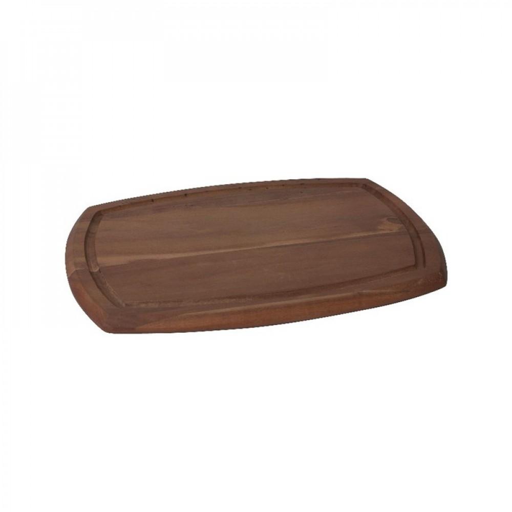 Genware Reversible Acacia Wood Serving Board  36x25x2cm