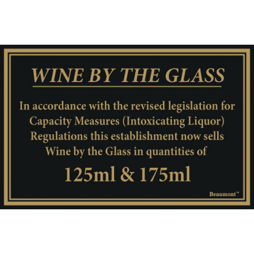 Berties Wine By The Glass Quantities 125/175ml 17x14cm