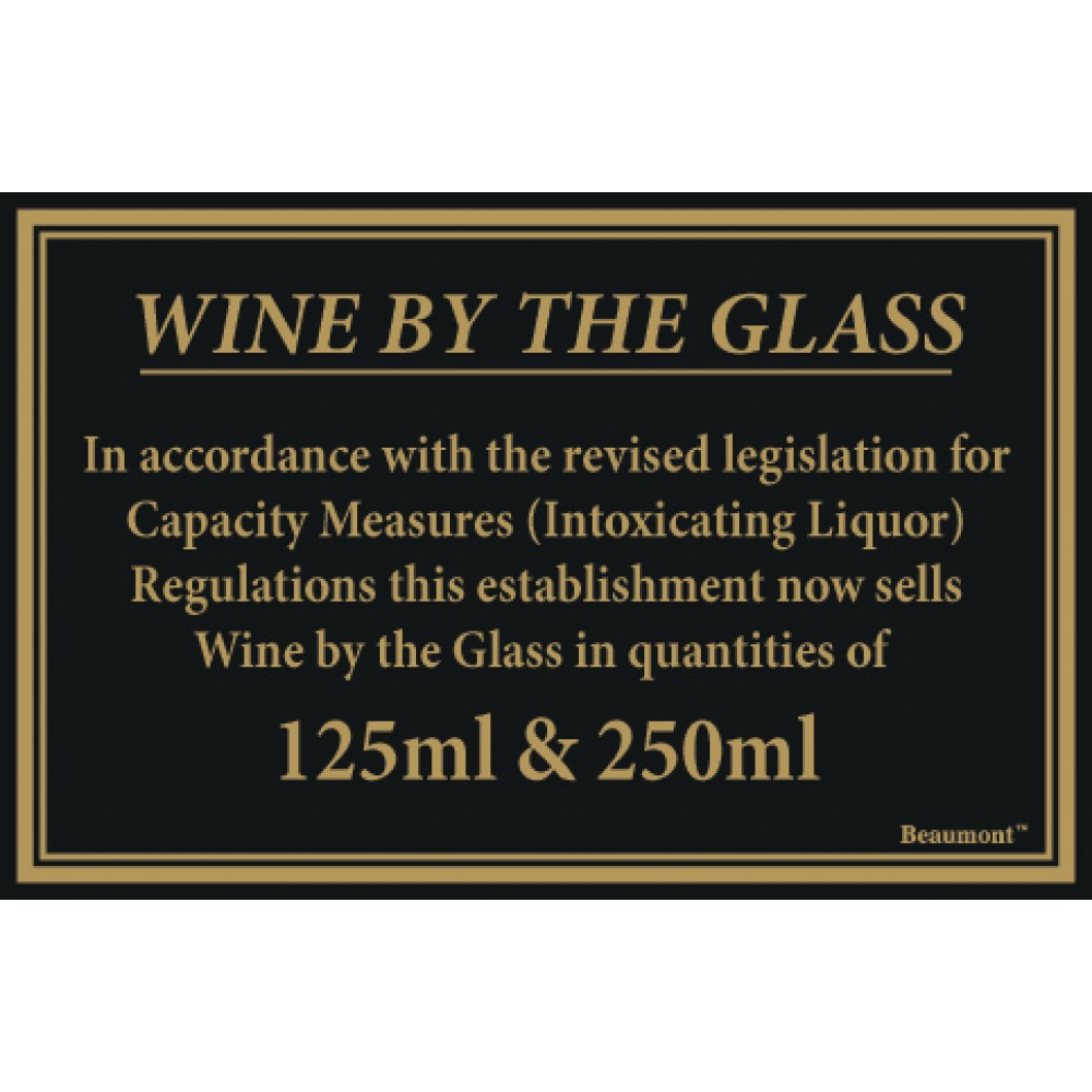 Berties Wine By The Glass Quantities 125/250ml 17x14cm
