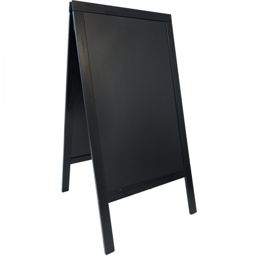 Berties Black Wood Sandwich A-Board 20x120cm