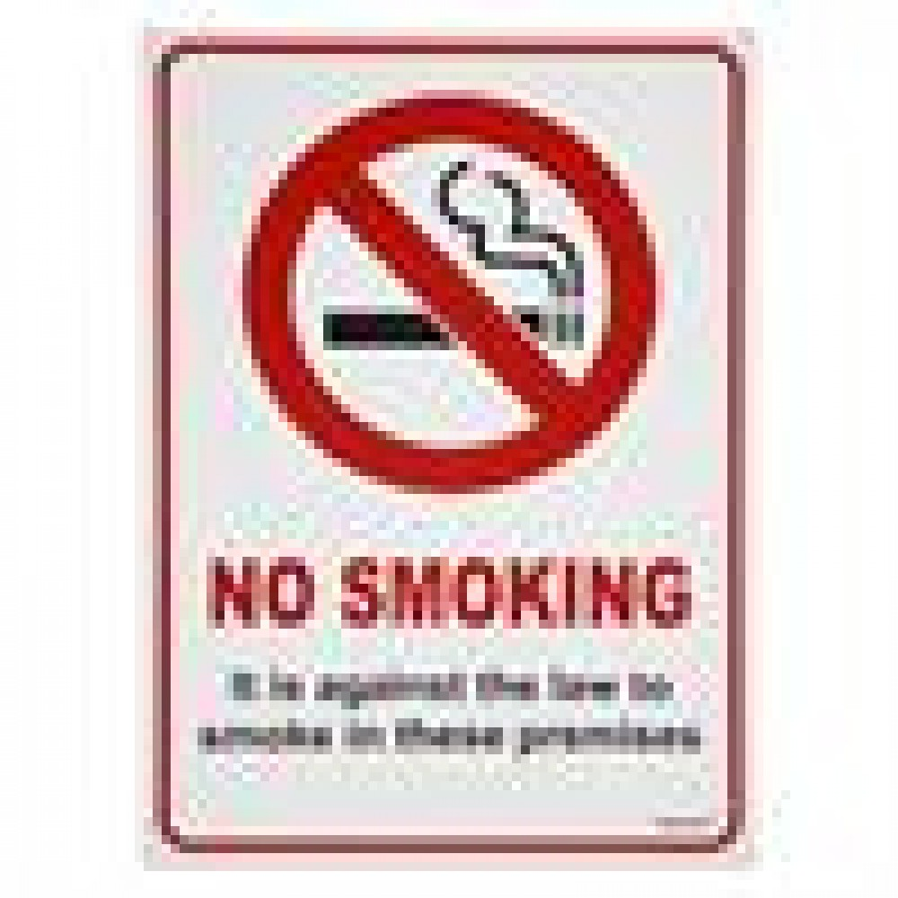 "Berties ""No Smoking"" Sign Plastic A5"