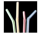 "Berties Flexi Straw 8"" Striped"